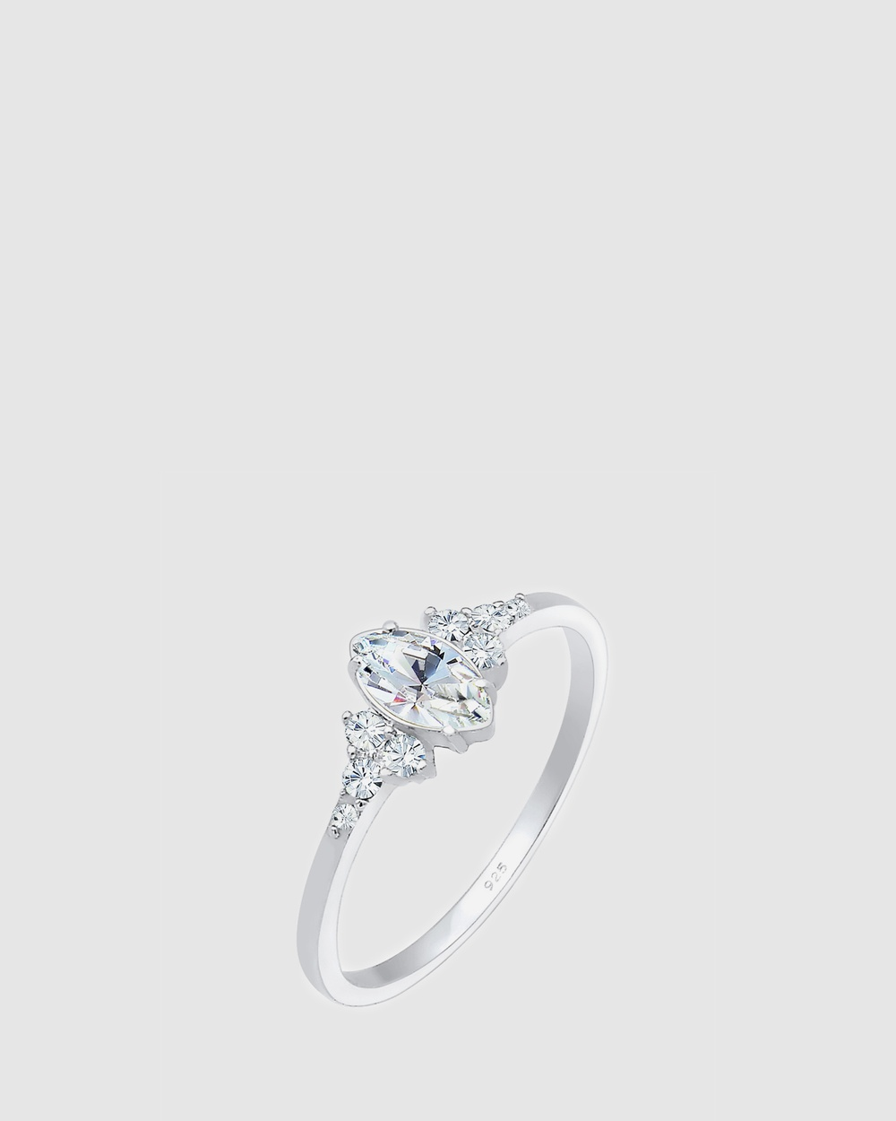 Elli Jewelry Ring Elegant Engagement Valentin Crystals 925 Sterling Silver Jewellery Silver