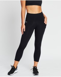 Brasilfit - High-Waisted Supplex Mid-Calf Leggings with Pockets