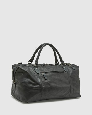 Oxford Yeats Leather Overnight Bag - Bags (Black)