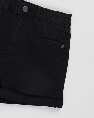 Free by Cotton On Camie Denim Shorts   Teens - Denim (Black Wash)