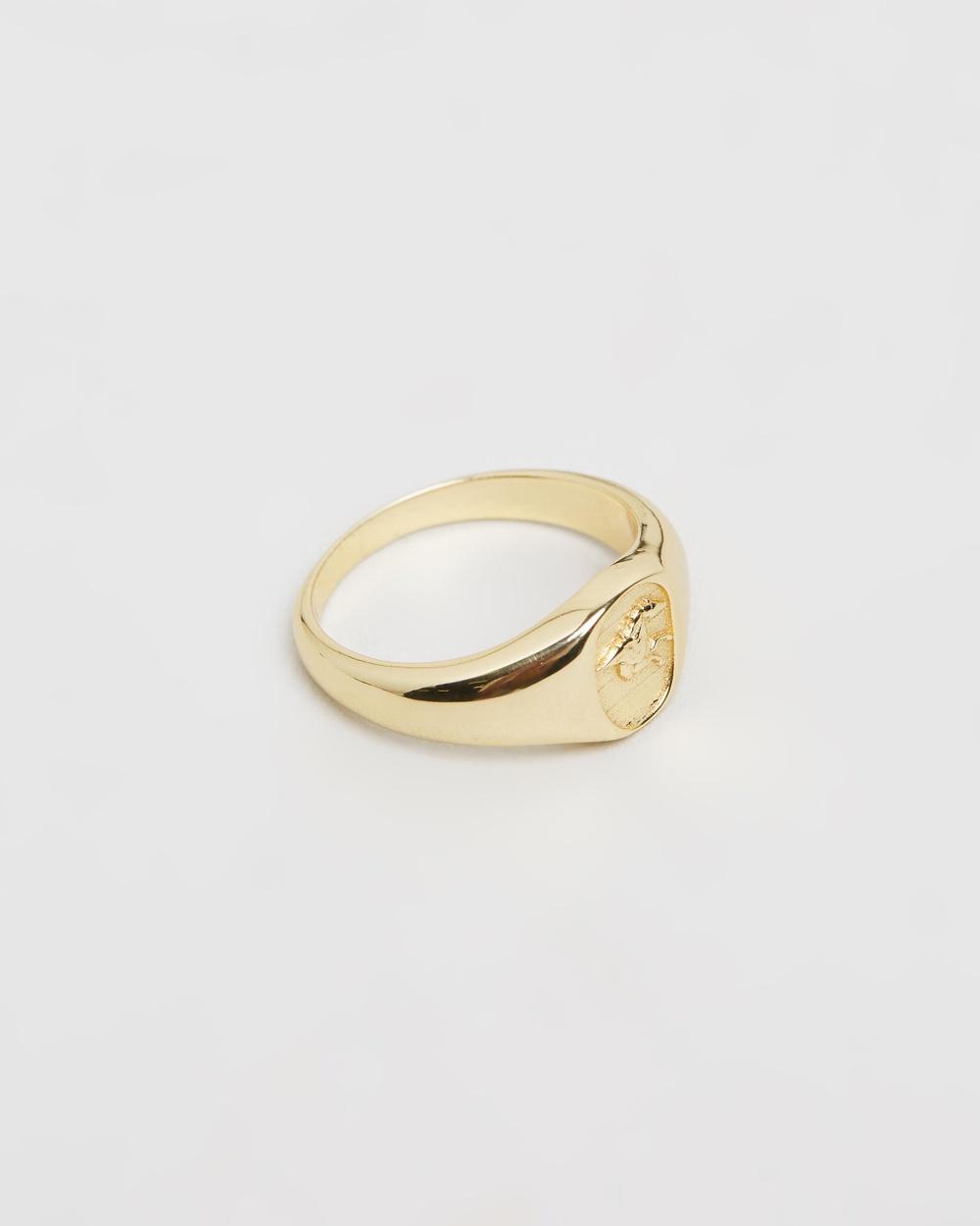 Serge DeNimes Pegasus Signet Ring Jewellery Gold