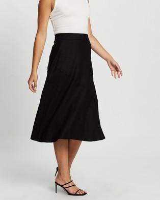 Atmos&Here Catherine Cotton Slip Skirt - Skirts (Black)