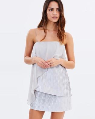Isla – On Her Way Dress – Dresses (Silver)