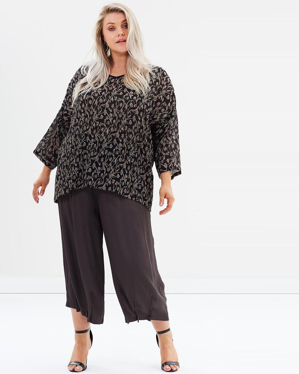 Advocado Plus Spectrum Pull On Culottes Pants Slate