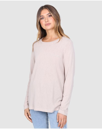 Madison The Label Script Top Sand