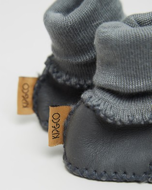 Kip&Co Sheepskin Booties - Socks (Dark Grey)