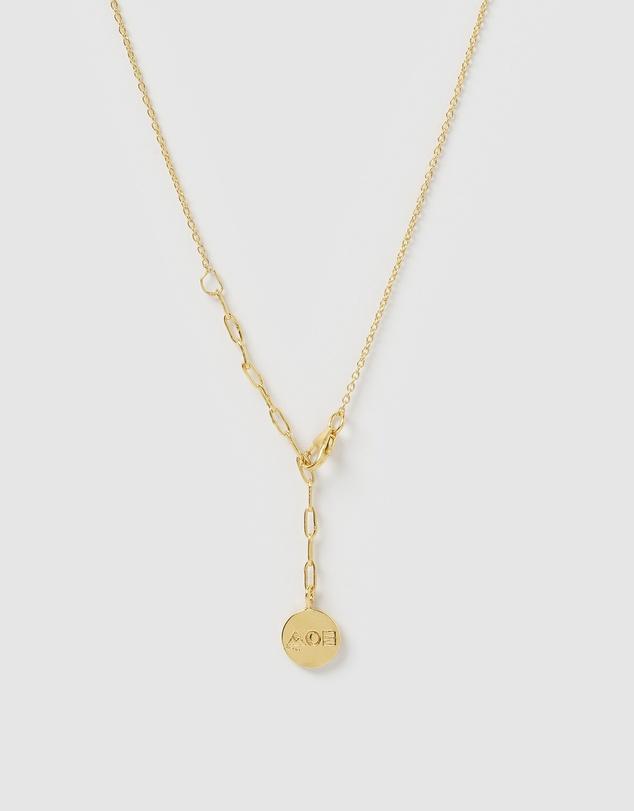 Women Sunburst Gold and Stone Pendant Necklace