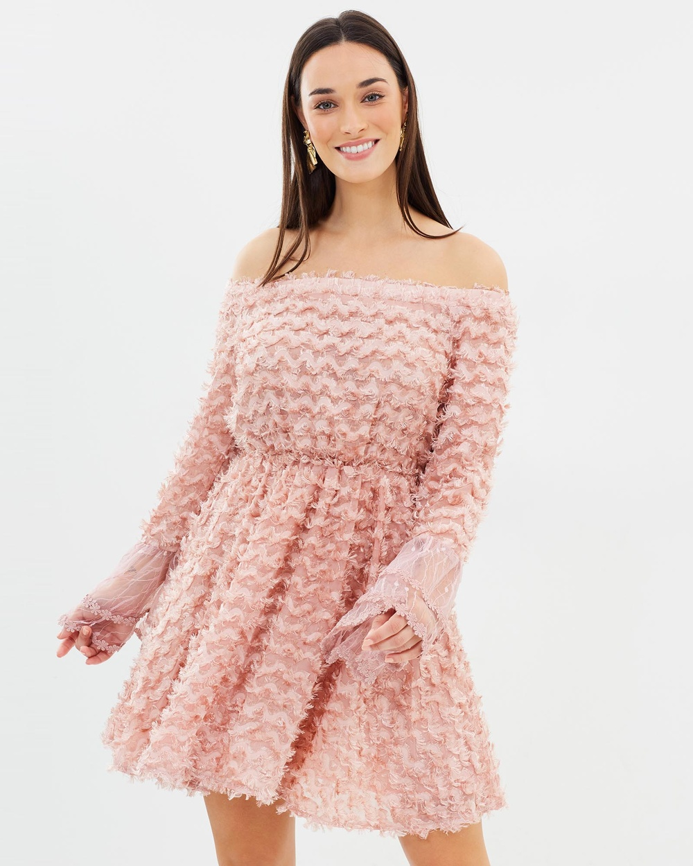 ROXCIIS Sally Fringe Dress Dresses Dusty Pink Sally Fringe Dress