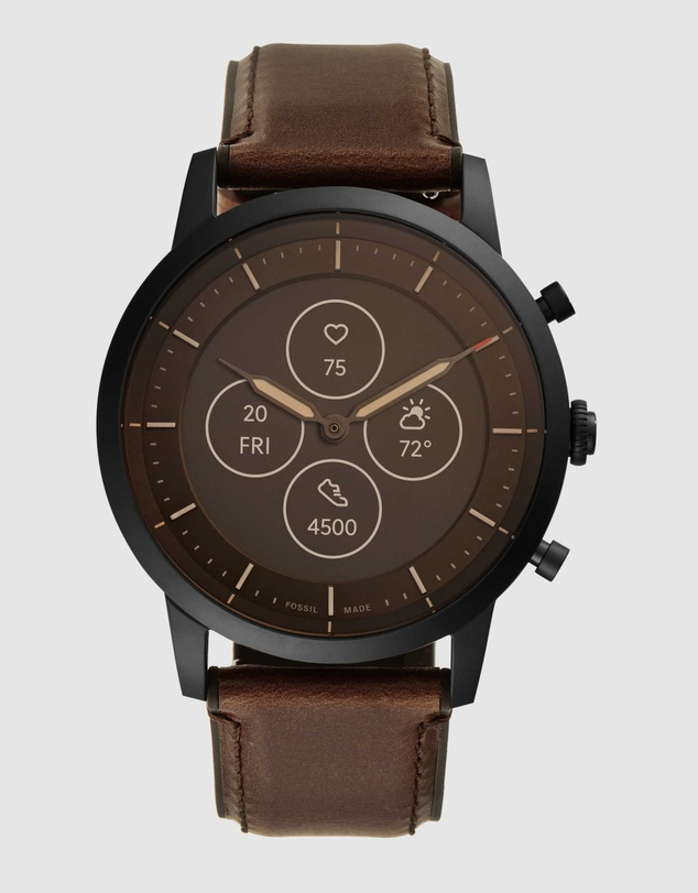 Fossil - Collider Hybrid HR Brown Smartwatch