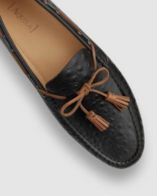 Aquila Ricky Driving Shoes - Dress Shoes (Black)