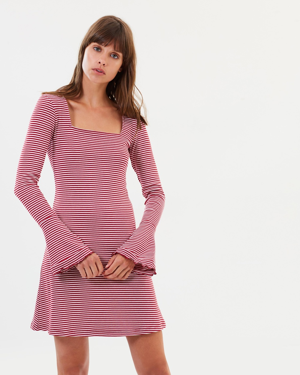 The Fifth Label Local Stripe Dress Dresses Brick & White Local Stripe Dress