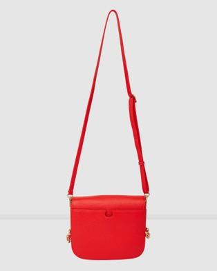 Saben Blaise Cross body Leather Handbag - Clutches (Red)