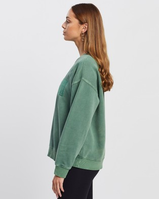 All About Eve - Old Favourite Crew Necks (FOREST GREEN)