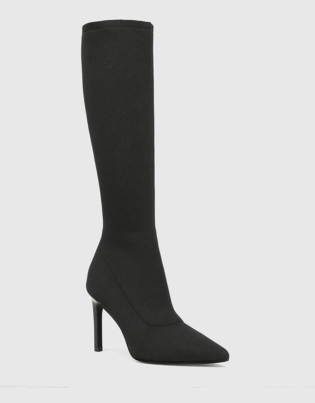 Women Hada Recycled Flyknit Stiletto Heel Long Boots