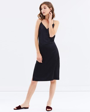 Lulu & Rose – Arianne Slip Dress – Dresses (Black)