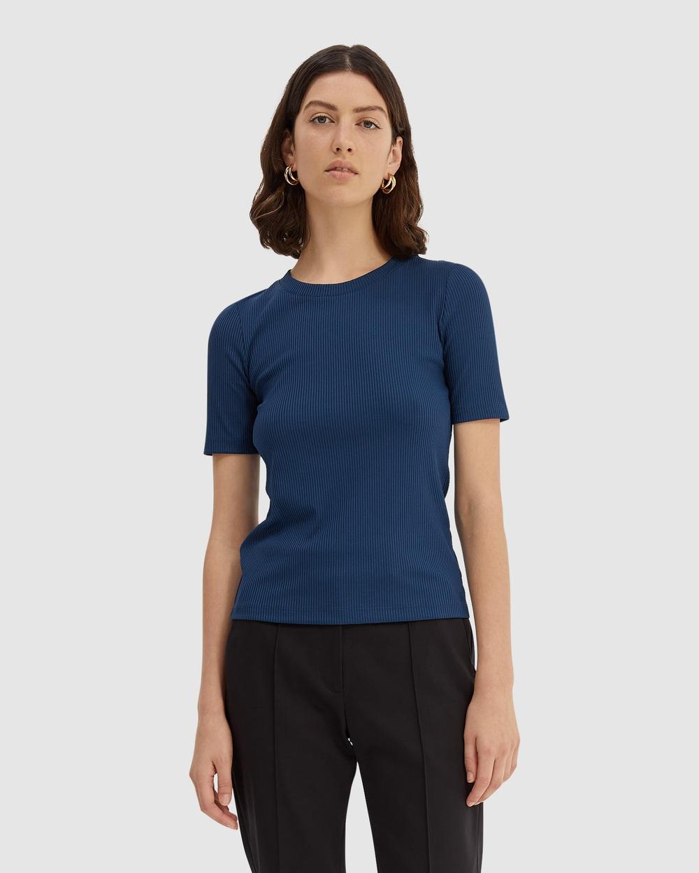 SABA - Vespa Rib Tee - T-Shirts & Singlets (blue) Vespa Rib Tee