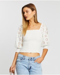 Wish - Frame Shirred Blouse