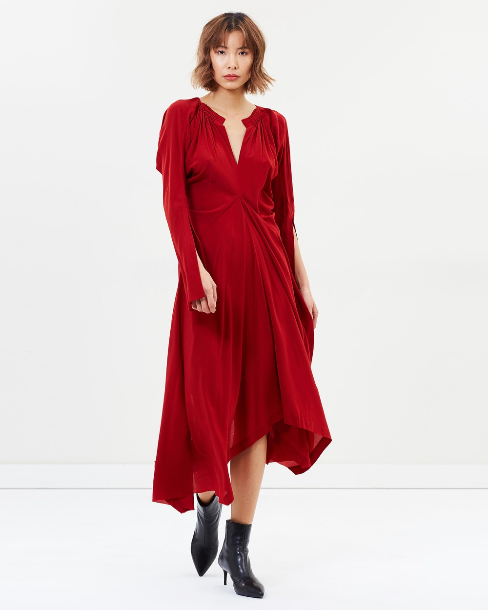 KITX Unity Pleat Dress Dresses Red Unity Pleat Dress