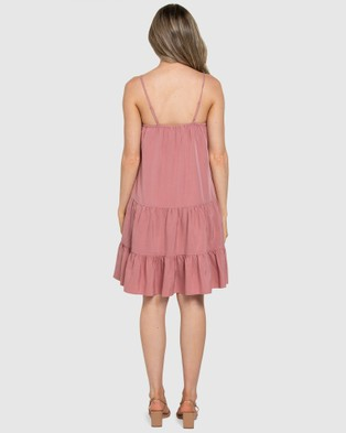 Forever New Toni Tiered Mini Dress - Dresses (Rosy Pink)