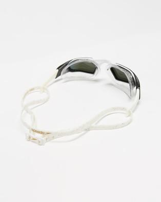 Speedo Aquapulse Pro Mirror Goggles   Unisex - Goggles (White, Clear & Purple Gold)