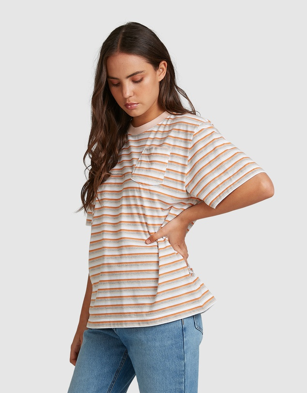 Women Womens Sun Child Stripe Oversized T-Shirt