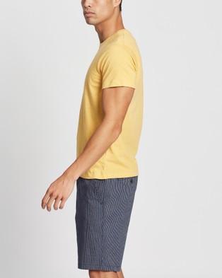 Marcs Marle Brando Crew - T-Shirts & Singlets (MUSTARD)