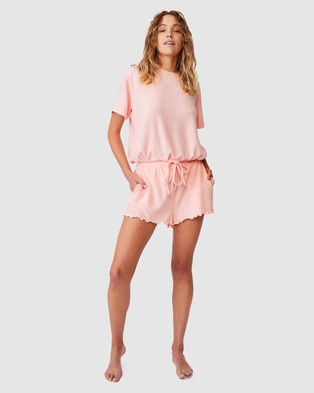 Cotton On Body Super Soft Relaxed Shorts - Sleepwear (Fairy Tale Marle)