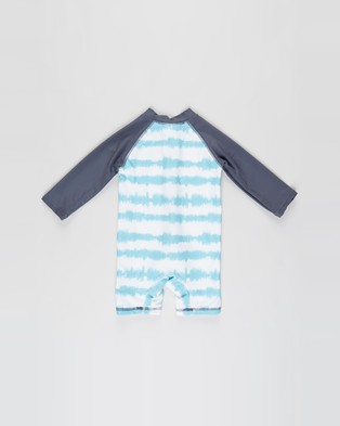 Cotton On Baby Cameron Long Sleeve Swimsuit   Babies - Rash Suits (Blue Ice Tie Dye & Chill Out)