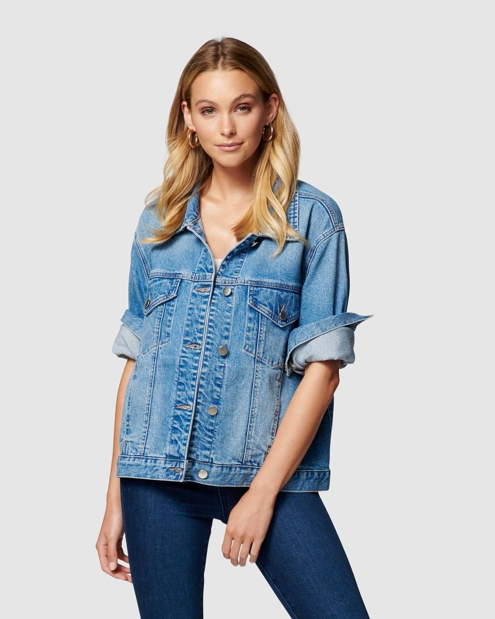 Forever New Hanna Denim Jacket jacket Mid Wash