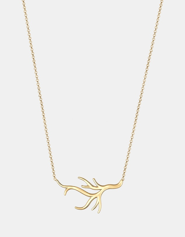 Elli Jewelry - Necklace Organic ocean beach coral 925 Sterling Silver gold- plated