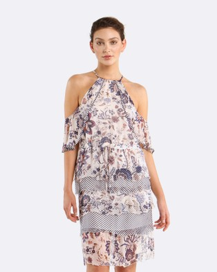 Coco Ribbon – Botanical Stripe Dress Botanical