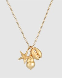 Elli Jewelry - Necklace Starfish Shell Pendant Sea Beach Summer Trend in 925 Sterling Silver Gold Plated