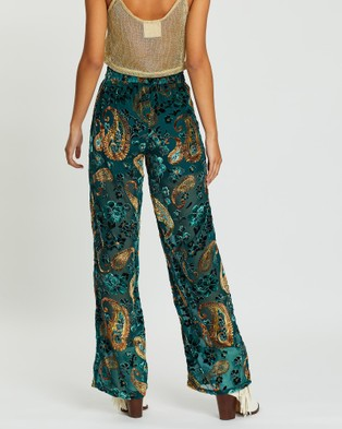 LENNI the label Firefly Burnout Pants - Pants (Teal Paisley)