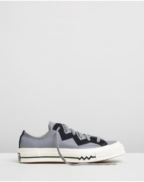 Converse - Chuck 70 Leather And Chevron Sneakers - Women's