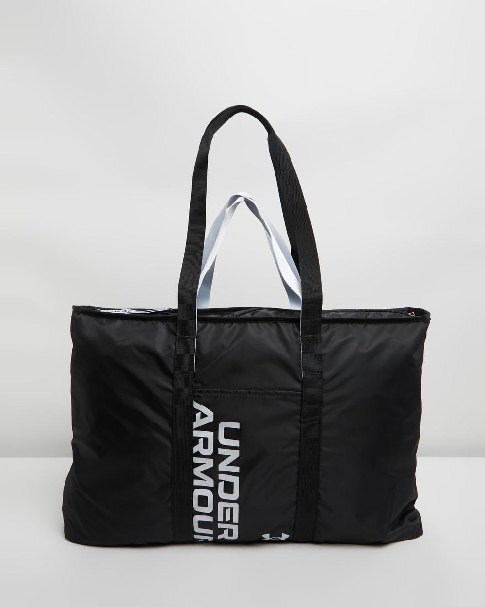 Under Armour UA Favourite Metallic Tote Bags Black & Halo Grey