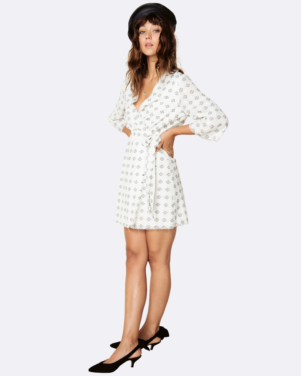 The East Order Ruth Wrap Mini Dress Dresses Print Ruth Wrap Mini Dress