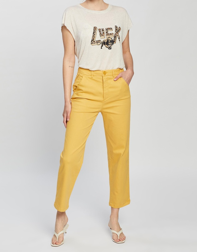 Women Sandy High Waist Cropped Pants