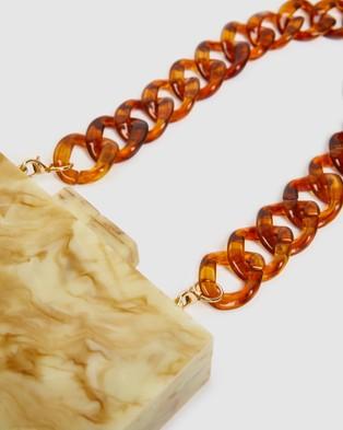 Brie Leon - Acetate Chain Strap - Handbags (Amber) Acetate Chain Strap
