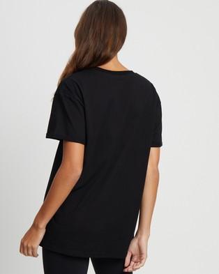 Calli - Oversized C Tee - T-Shirts & Singlets (Black & White Embroidery) Oversized C Tee