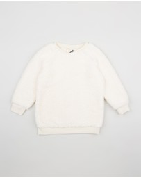 Cotton On Kids - Teddy Longline Crew Sweater - Kids