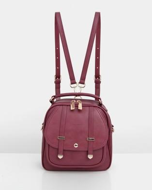 Belle & Bloom - Camila Leather Backpack - Backpacks (Purple Plum) Camila Leather Backpack