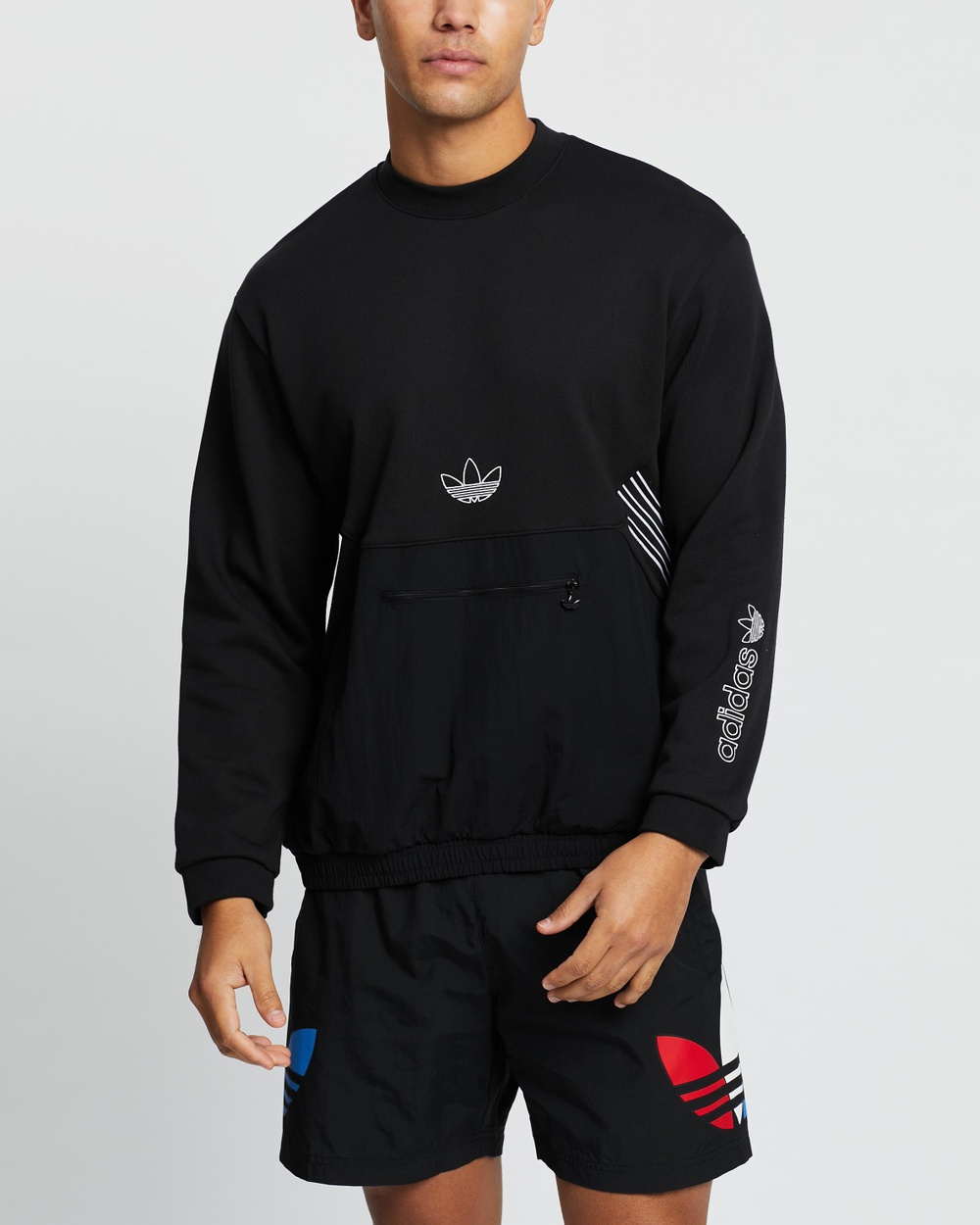 adidas Originals SPRT Archive Crew Sweatshirt Necks Black