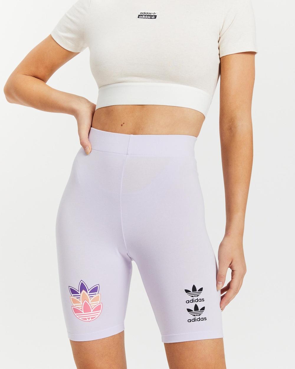adidas Originals Logo Play Short Tights High-Waisted Purple Tint