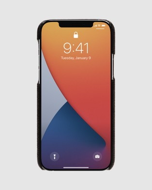 Coach Slim Wrap Case for iPhone 12 & 12 Pro - Tech Accessories (Black)