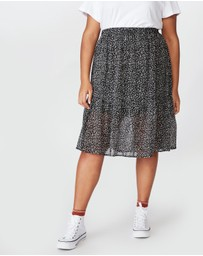 Cotton On Curve - Kirsty Midi Sheer Skirt