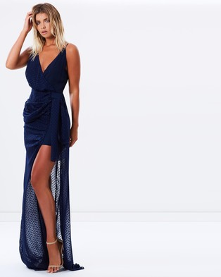 Lioness – Take Me To Cannes Maxi Dress – Dresses (Navy)