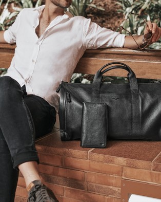 Aquila Montoro Passport Wallet - Travel and Luggage (Black)