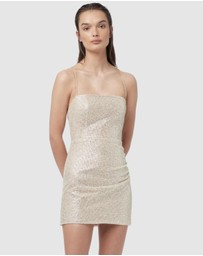 Manning Cartell - Metallic Mesh Mini Dress