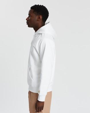 Carhartt Hooded Chase Sweatshirt Hoodies White & Gold