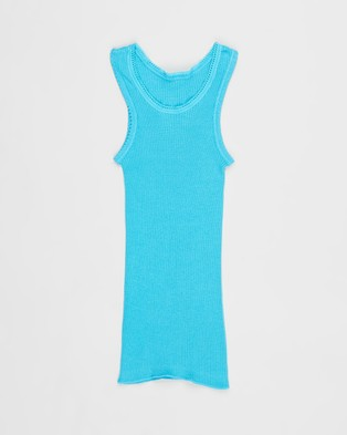 Bonds Baby Baby Vest 3 Pack - T-Shirts & Singlets (Multi - Blue, Aqua and Grey)